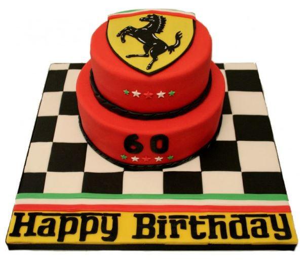 Wondrous Ferrari Birthday Cake The Ferrari Owners Club Funny Birthday Cards Online Ioscodamsfinfo