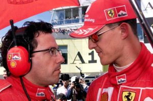 Baldisserri (l) was part of the all-conquering Schumacher era